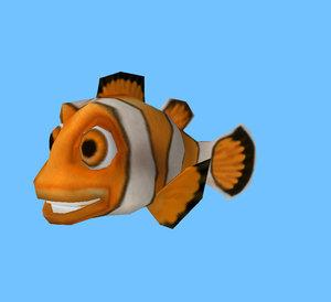 cartoon clown fish 3d x