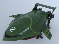 3d model thunderbird tv