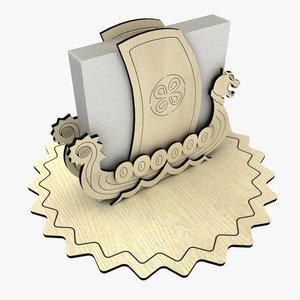 napkin holder 3d 3ds