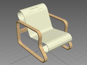 3d paimio chair