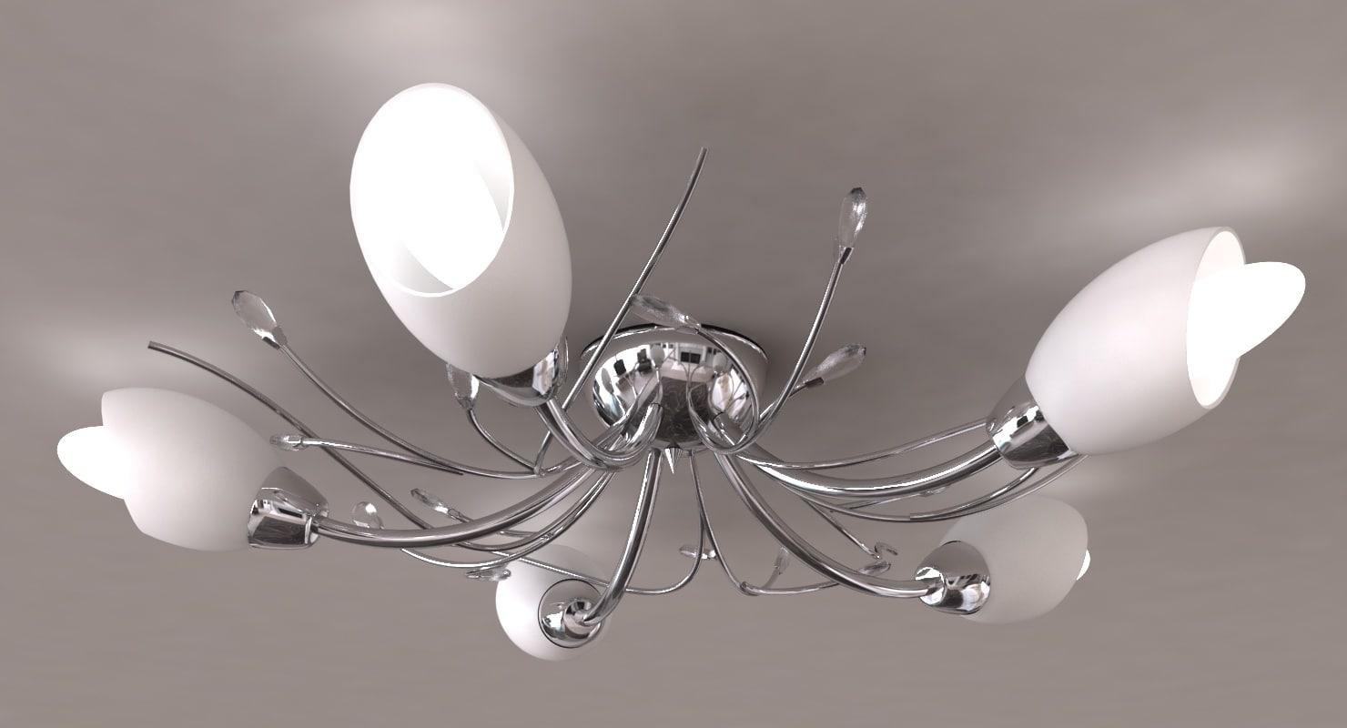 3d model gardenia ceiling light lamp