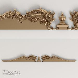 3ds max decorative cornice