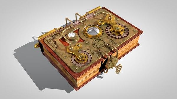 3d steampunk book model