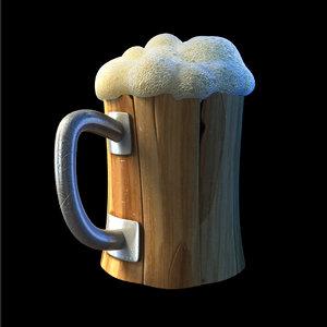 3d beer cartoon