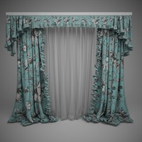 3d max curtains lambrequins