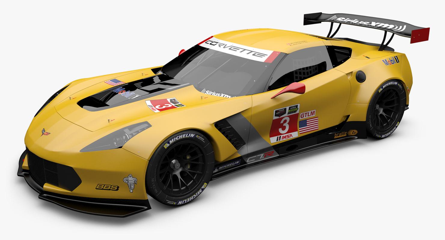 corvette c7 3d c4d