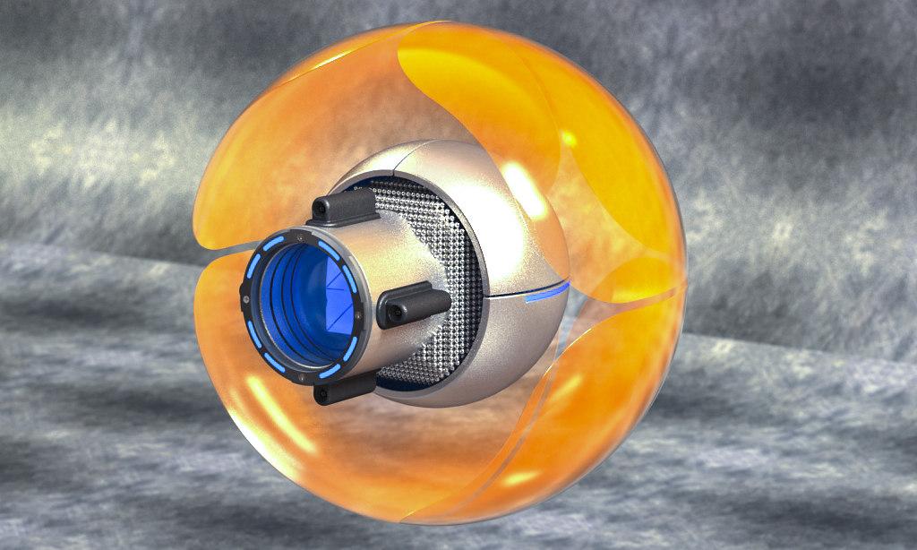 3d model of sci-fi sphere