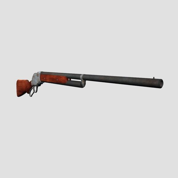 shotgun gun shot 3d obj