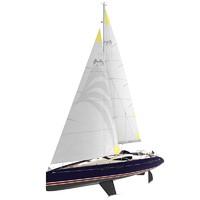 hotbird 46 sailboat 3d model