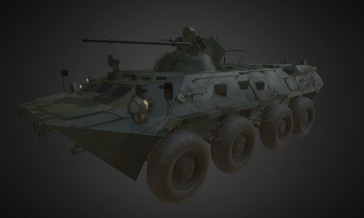 free obj model btr 80 80a