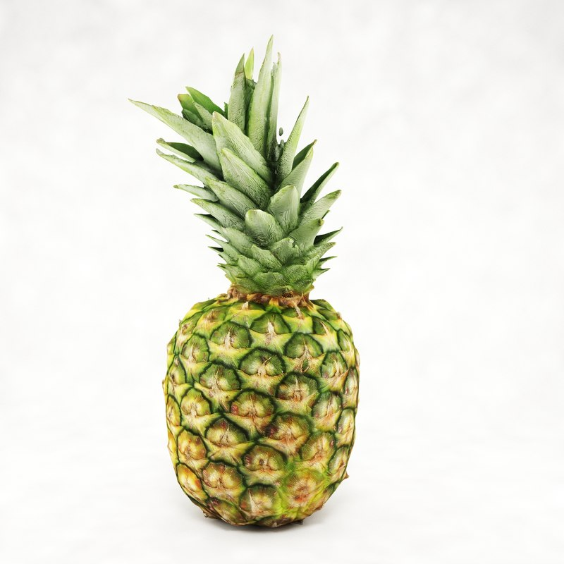 3d max realistic pineapple