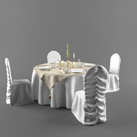 3d wedding table