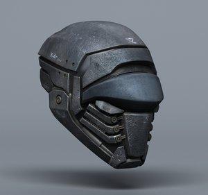 scifi helmets - 2 3d model