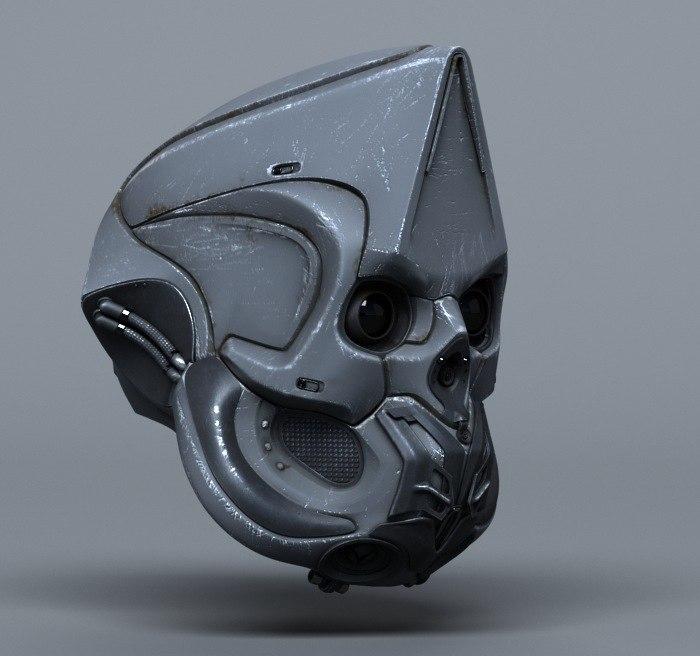 3d model scifi helmets -