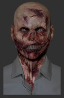 3d model of zombie zbrush