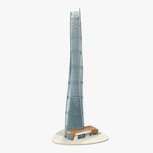 3d model shanghai tower china