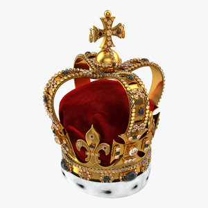 3d model st edwards crown