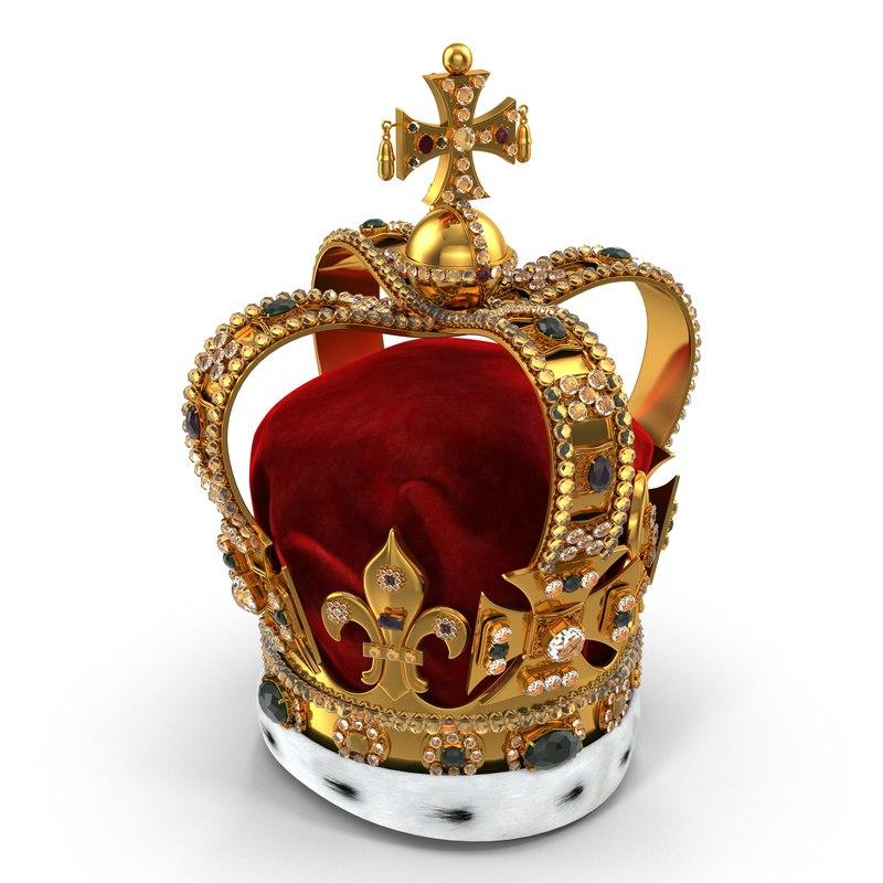 3d model st edwards crown