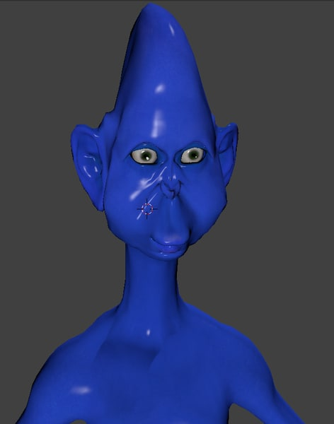 free funny alien rigged 3d model