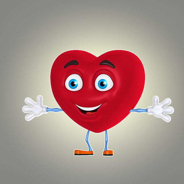 cool cartoon heart max