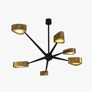 3d model lamp achille salvagni spider