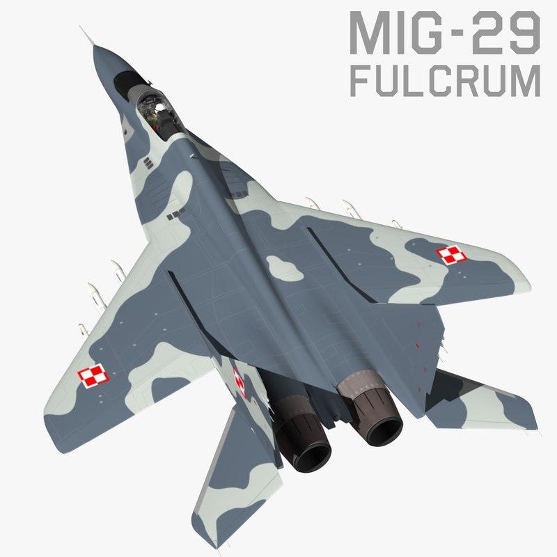 3d model mikoyan fulcrum