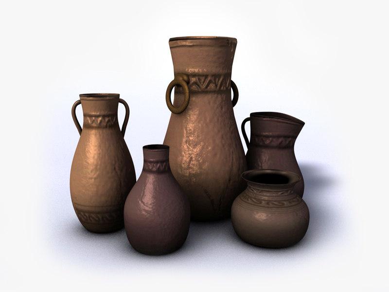 ancient vases 3d max