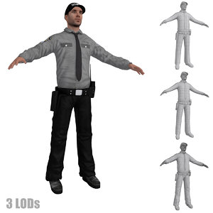 security guard 2 3d model