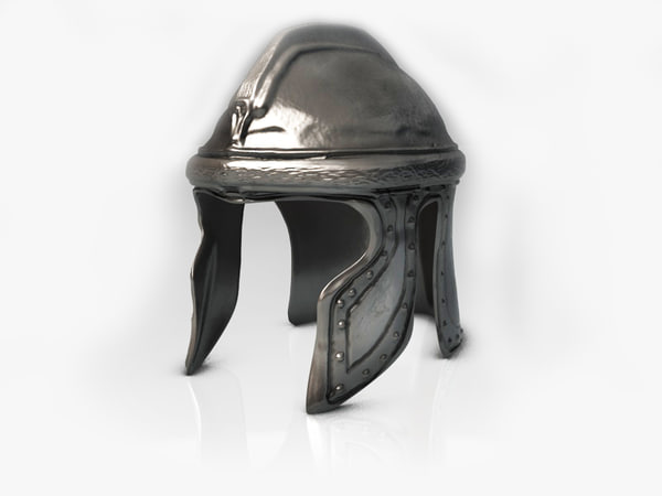 3d model old helmet