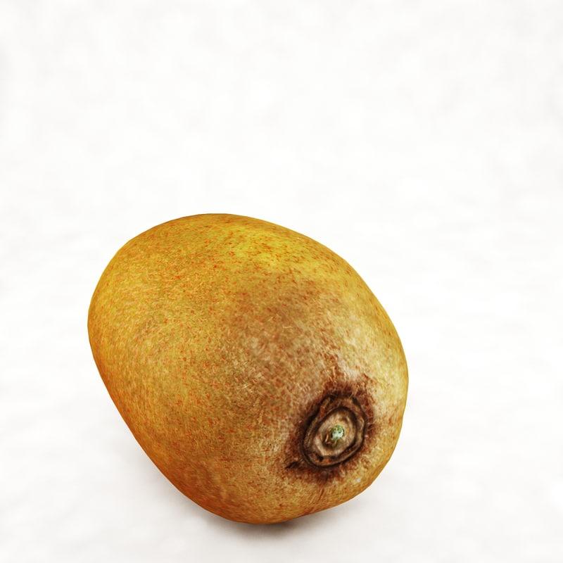 3d model realistic kiwi fruit