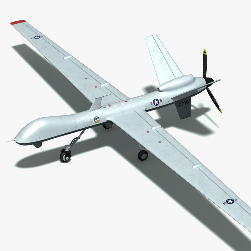 unmanned mq reaper 3d max
