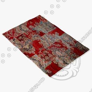 3d model of sartory rugs nc-526