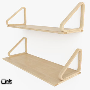 3d artek wall 112 shelf model