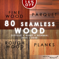 80 High Resolution Seamless Wood Textures - Fine Wood, Parquet, Rough Wood, Planks