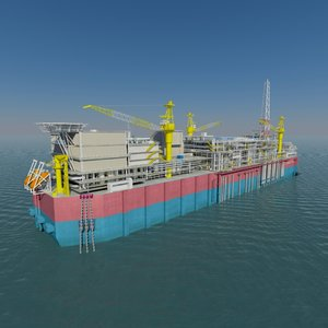 factory ship fpso 3d model