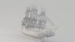 3D ship black pearl model