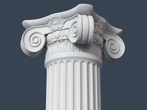 3d model capital column