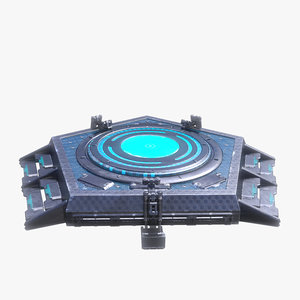 sci fi turntable 0 3d model