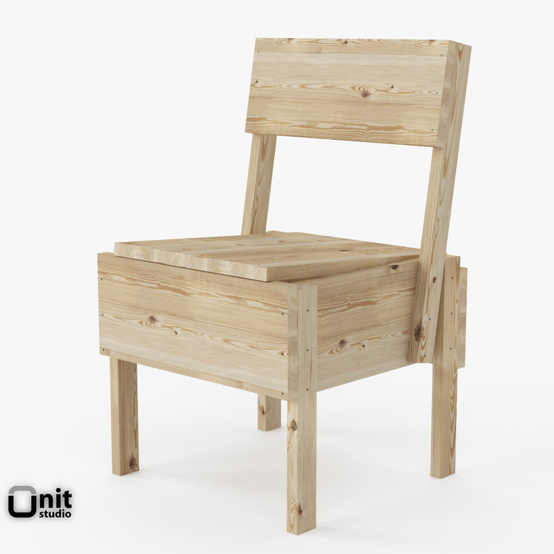 3d model sedia 1 chair artek for Sedia 611 artek