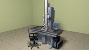 electron microscope 3d obj