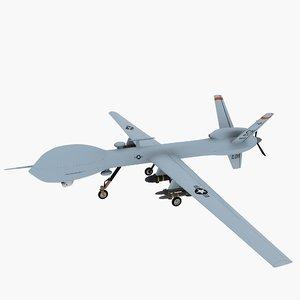 mq-9 uav drone 3d max