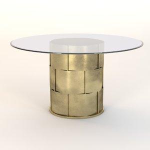 gold leaf dining 3d 3ds