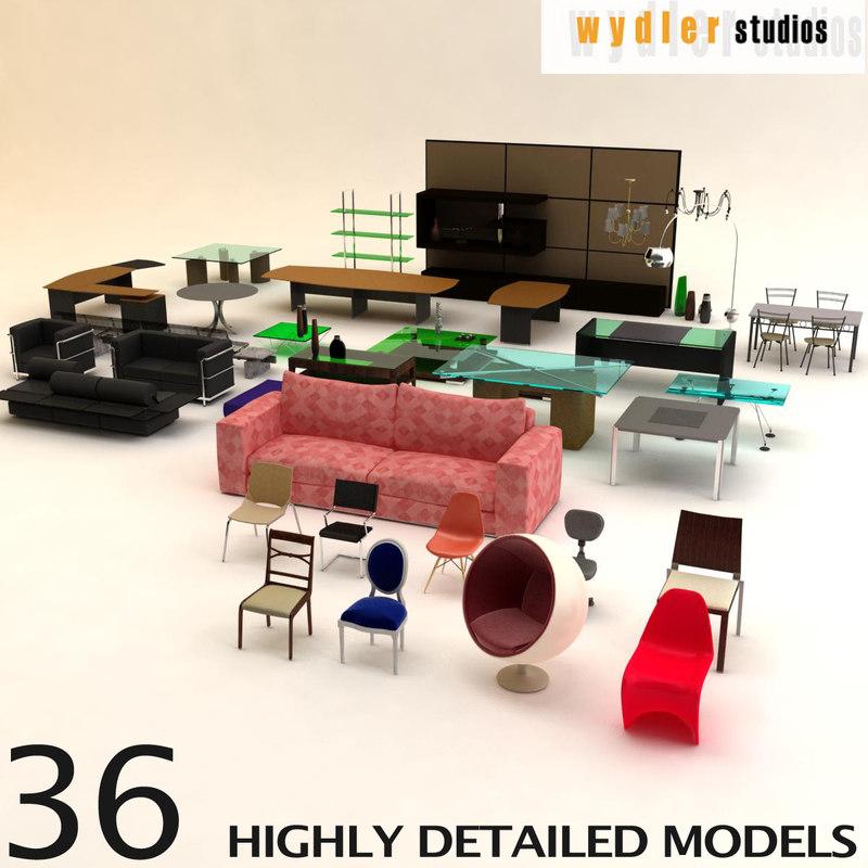 3d furniture table model