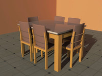 3d desk-chair model