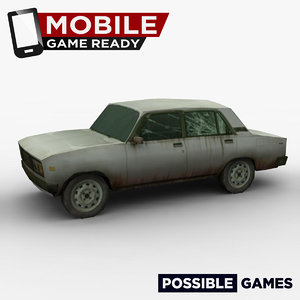 3d old car ready mobile model