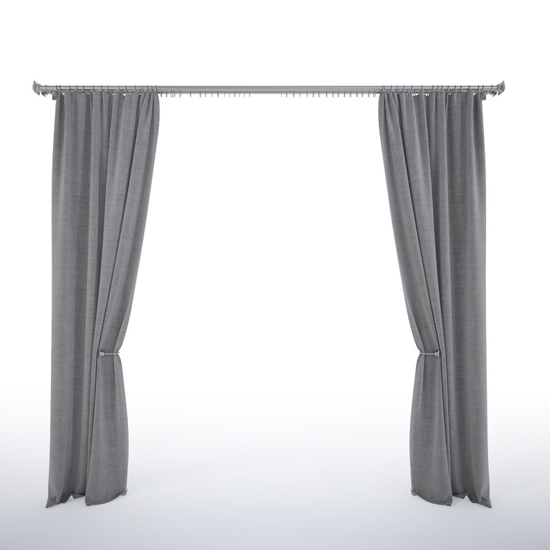 3d curtains cornice model