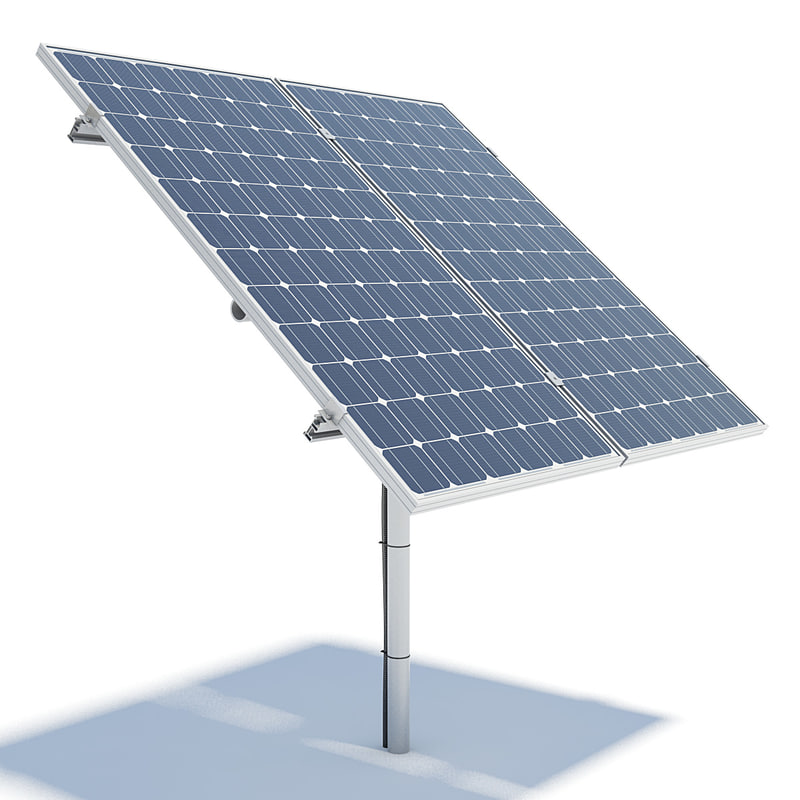 solar panels obj