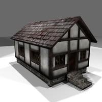 house medieval 3d obj