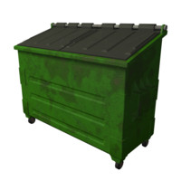 3d dumpster dump model