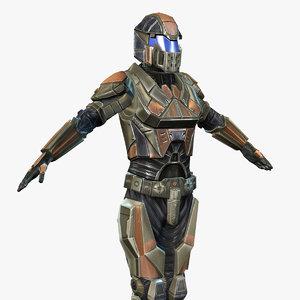 sci-fi armor female 6 3ds